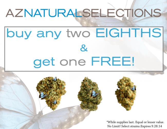 buy 2 eighths get 1 free!
