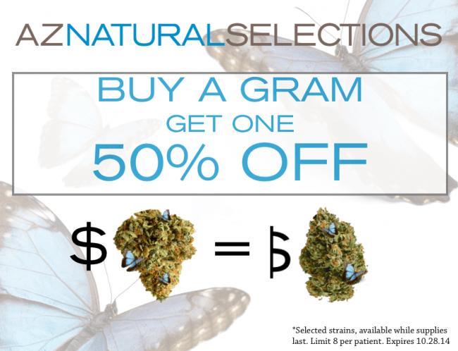 buy a gram get one 50% off!