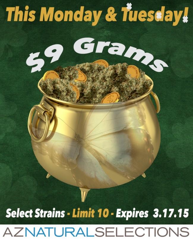 $9 Grams Monday & Tuesday!