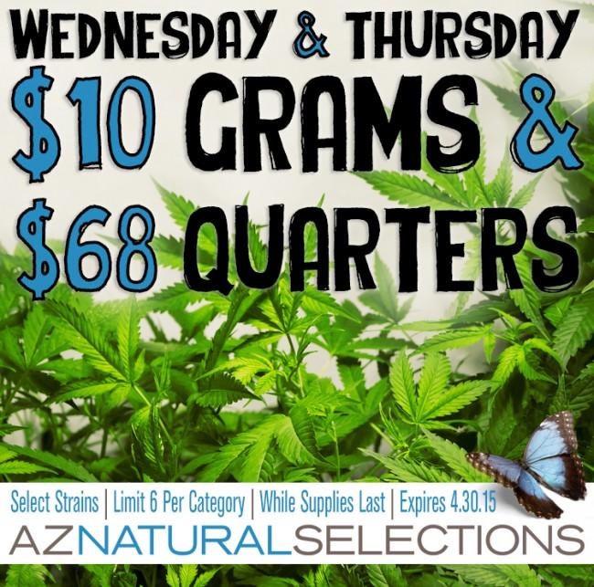 $10 GRAMS & $68 QUARTERS!