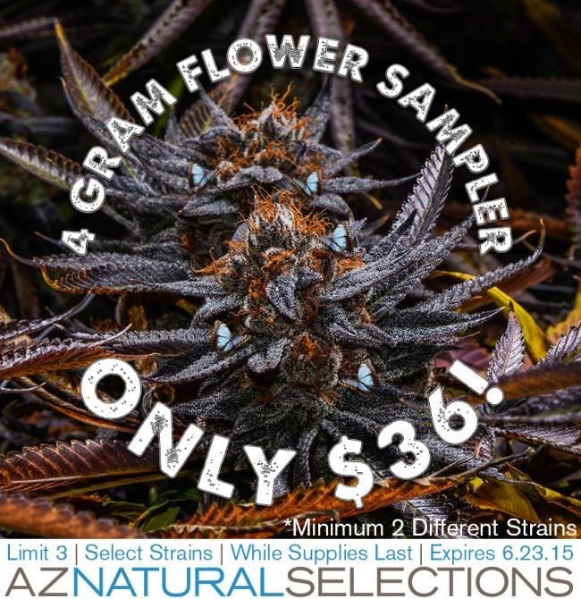 $36 4 GRAM FLOWER SAMPLER!