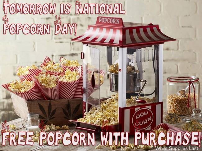 Free Popcorn This Tuesday!