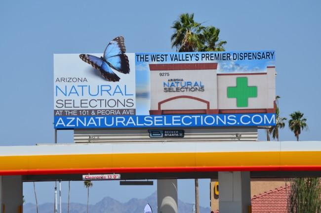 NEW AZ NATURAL SELECTIONS BILLBOARD!
