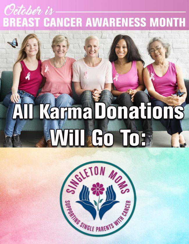 October Karma Jar Donations