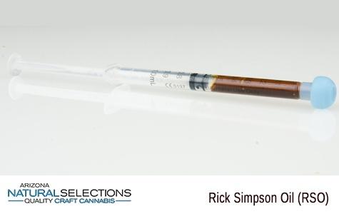 Arizona Natural Selections: Capsules -THC Rick Simpson Oil (RSO)