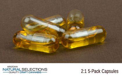 2:1 5-Pack THC Capsules