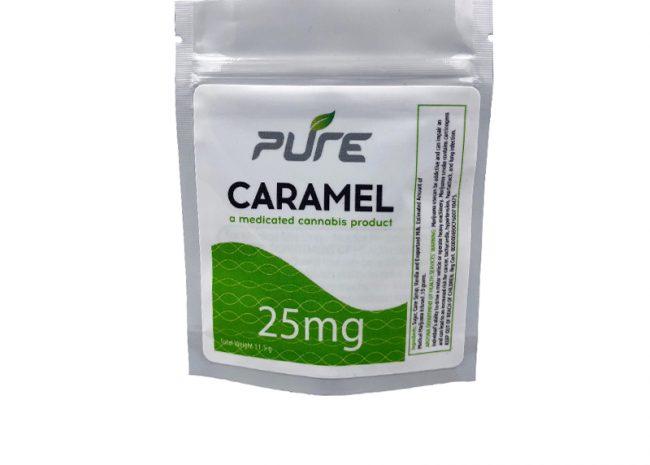 Pure Edibles 25mg Caramel Single!