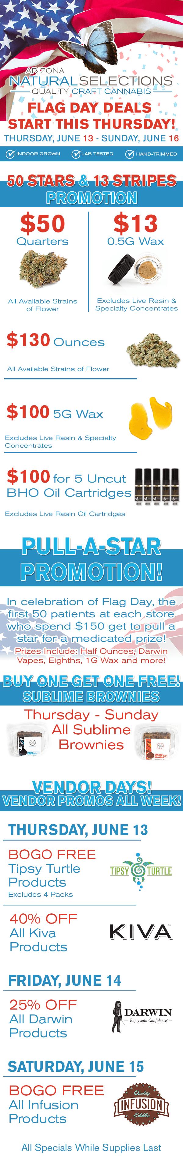 50 Stars & 13 Stripes Promotion (Thursday – Sunday)